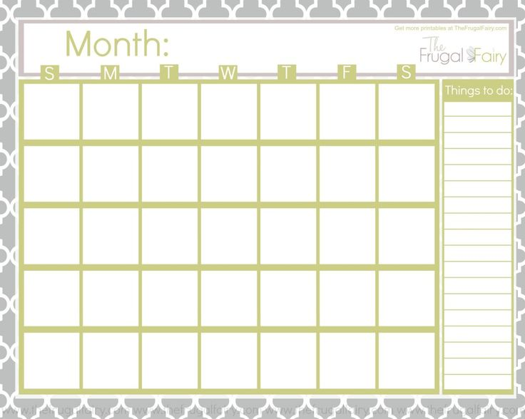 Best 25 Free Blank Calendar ideas – Free Blank Calendar