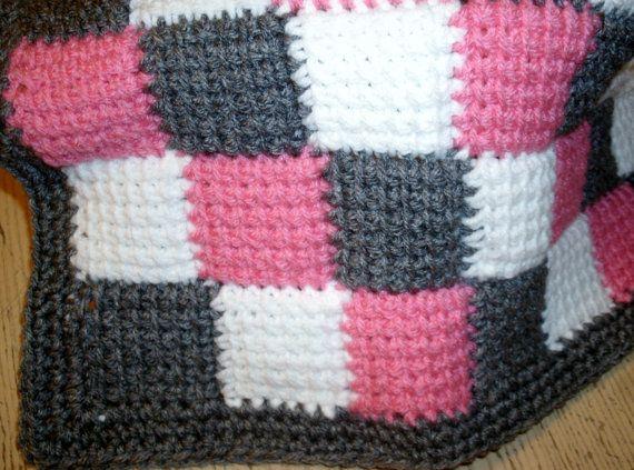 Mejores 45 imágenes de Afghan stitch en Pinterest   Crochet tunecino ...