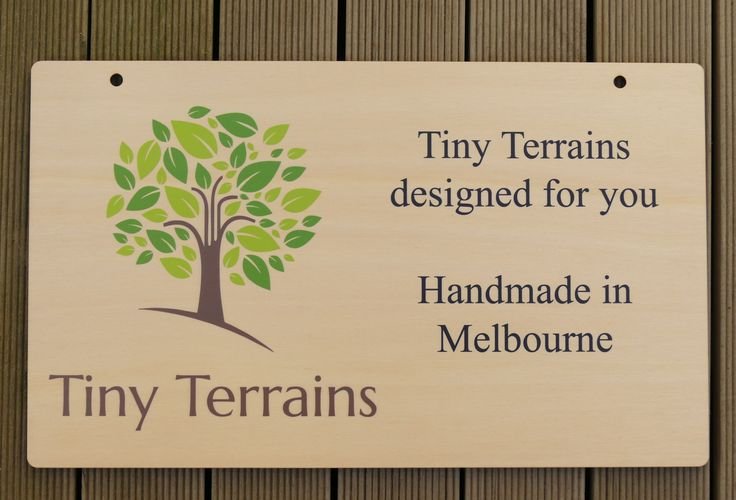 Timber sign laser cut plywood colour printed UV cured inks