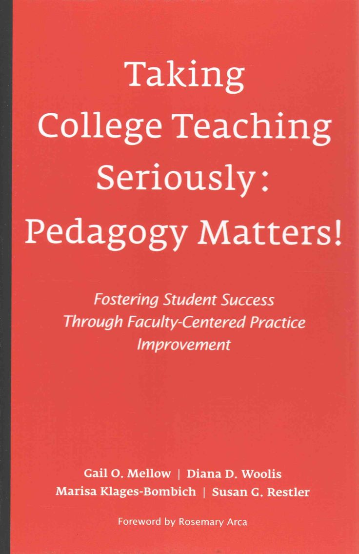 Taking College Teaching Seriously: Pedagogy Matters! Fostering Student Success Through Faculty-Centered Practice ...