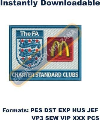 the fa logo embroidery designs