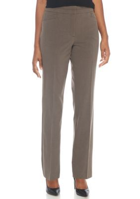 Kim Rogers Women's No Gap Fashion Pants - Heather Java - 16 Average