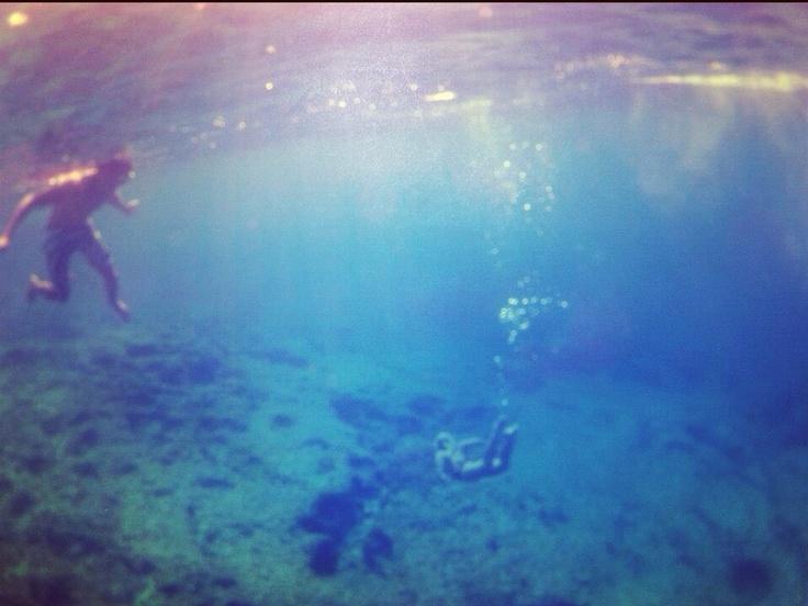 The deep blue.