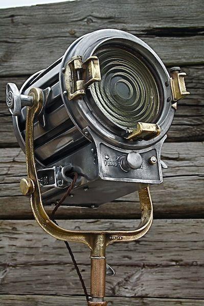 Vintage Mole-Richardson industrial spotlight.