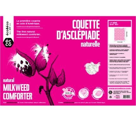 Eco&Eco - Couette d'asclépiade : la première couette en soie d'Amérique !   Eco&Eco - The first natural milkweed comforter!