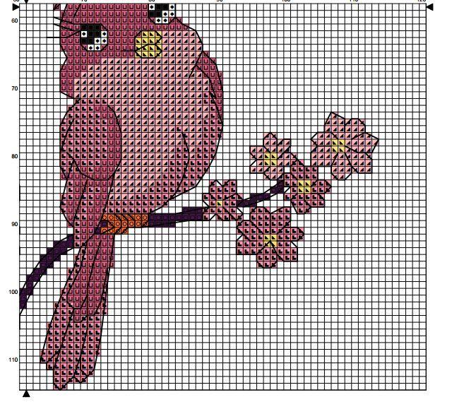 love birds on branch 2/5