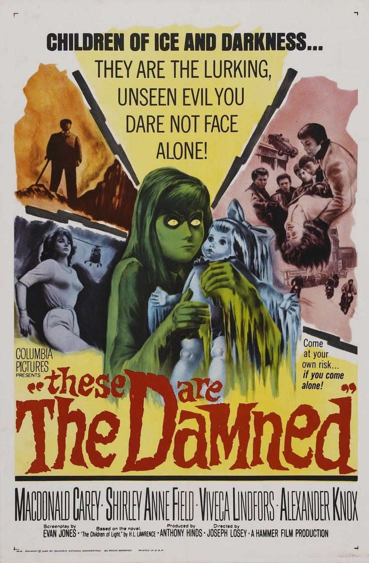 The Damned, 1963Movie Posters, Hammer Icons, Classic Horror, Crappie Horror, 1963 Sources, Damn 1963, Cine Posters, Film 19631964, Products Blog