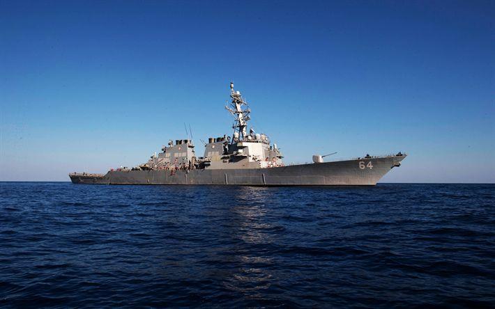 Descargar fondos de pantalla El destructor, el USS Carney, DDG-64, tipo Arly Burke, la Marina de los EEUU, Estados unidos, buques de guerra