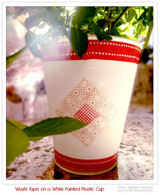 Japanese Washi Tape and a Painted Cup II