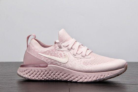 61dad9b13dce0 Nike Epic React Flyknit Aq0070 600 Pearl Pink Popular 2018 Sneaker ...