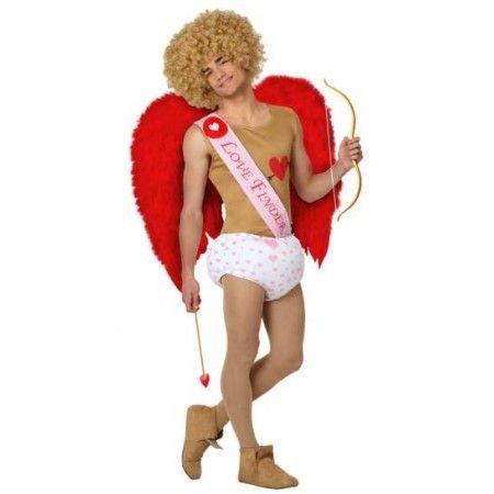 #Cupido Disfraz de Angel Cupido  Incluye: Pañal, camiseta y banda  Composición: Punto http://www.disfracessimon.com/disfraces-baratos/2363-disfraz-angel-cupido-p-2363.html