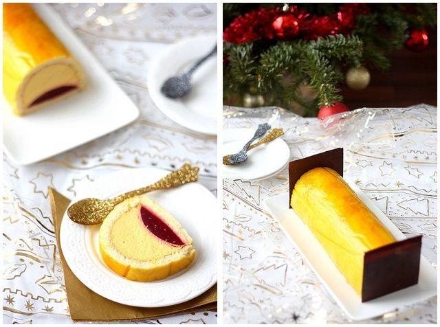 Cette bûche change des habituelles bûches de mes Noël, qui sont, comme je vous l'ai déjà dit, des génoises roulées à la pâte à tartiner et à la confiture. Cette fois-ci, j'ai essayé de changer un peu,