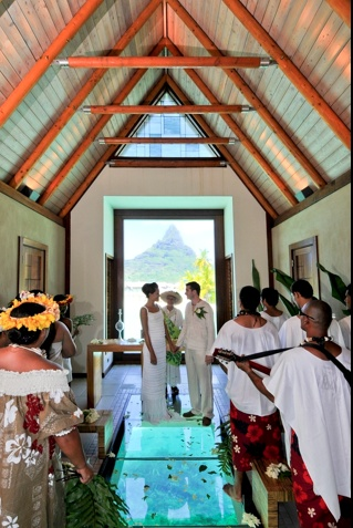 The Air Conditioned Overwater Wedding Chapel At Intercontinental Bora Resort Thalo Spa Is Just One Of Several Locales On Property