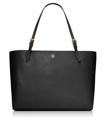 Tory Burch YORK BUCKLE TOTE...Hmmn should I go for the luggage color or the navy??