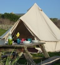 Isles of Scilly Camping and Self Catering at Troy Town Farm St Agnes