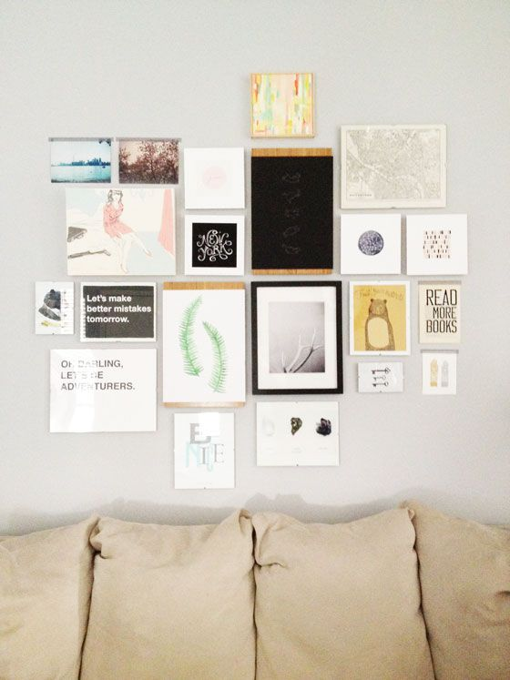 Gallery-Wall-After-Design-Crush: Diy Rooms, Cluster Galleries, Design Crushes, Galleries Wall, Favorite Quotes, Bedrooms Ideas, Wall Galleries, Art Pieces, Art Walls