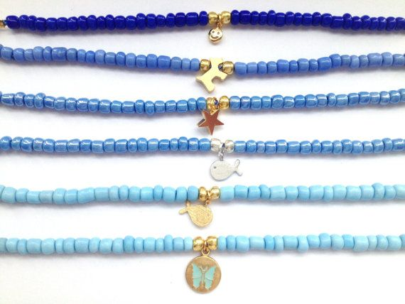 Blue Seed Bead Bracelets  Friendship Bracelets with by Annyse