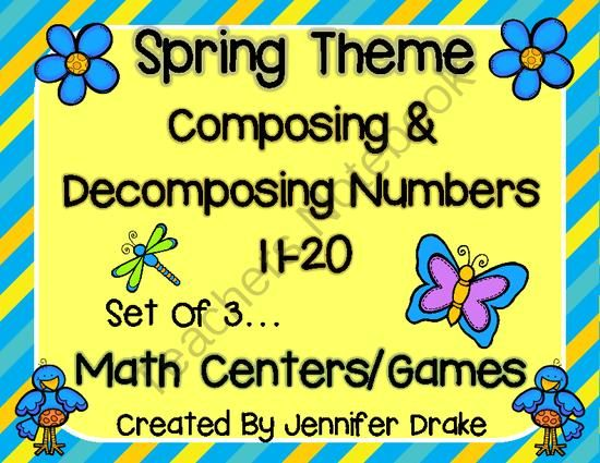 Composing & Decomposing Numbers 11-20 Game/Center Pack! Spring Theme Set of 3 from Jennifer Drake on TeachersNotebook.com -  (24 pages)  - Need some fun and interactive ways to practice composing and decomposing numbers 11-20?  This pack of 3 centers can be used for both, giving you 6 activities all together!