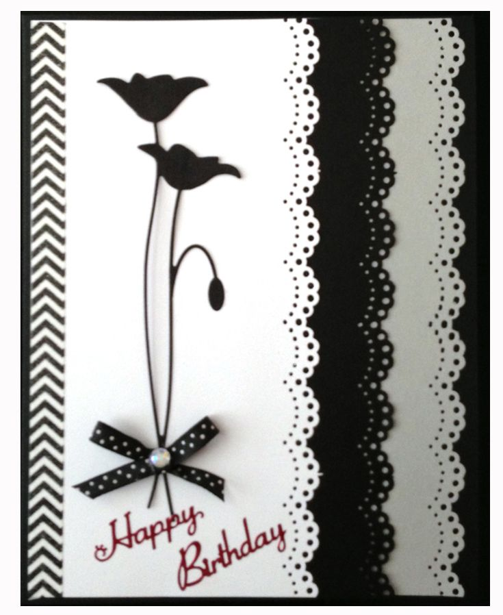 366 best images about Cards Sophisticated black white on – Black and White Birthday Card