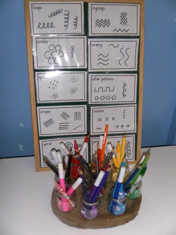 activité avec crayon effacable