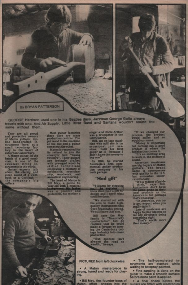 Article in the Sunday Press 30th August 1981 featuring Bill May (Pictured Left)
