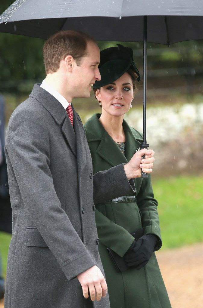 Kate Middleton Wearing a Green Coat and Hat | POPSUGAR Fashion