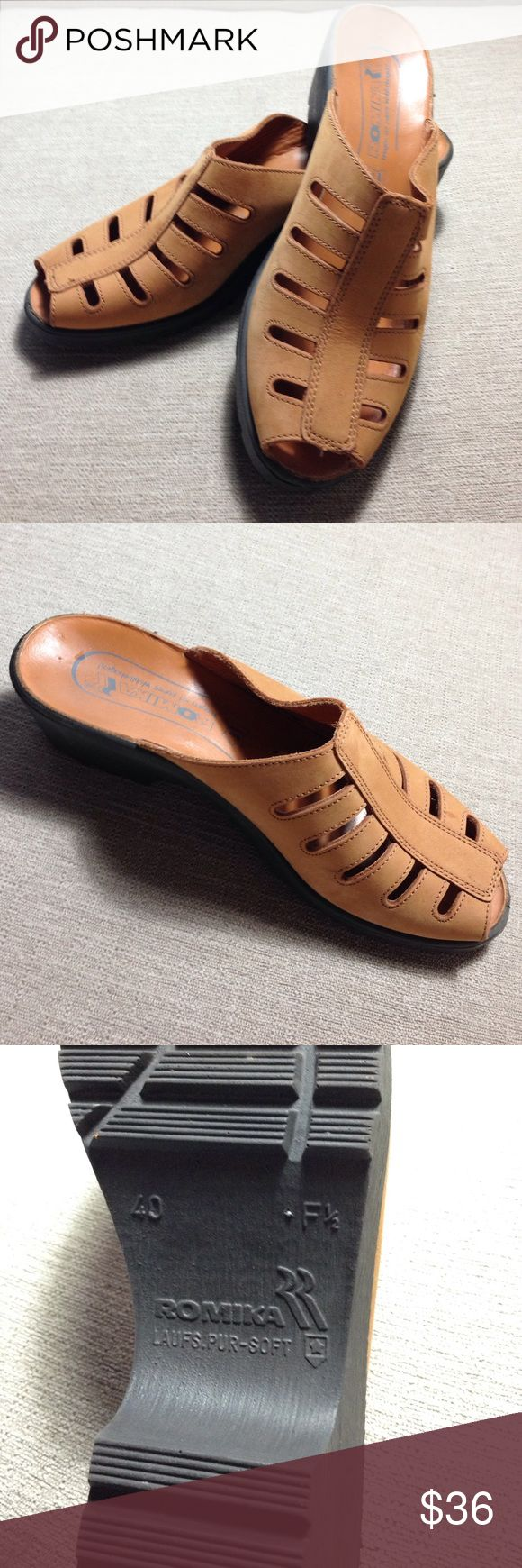 ❗️SALE❗️Romika tan suede sandals Romika tan suede sandals. Open-toed Romika Shoes Sandals