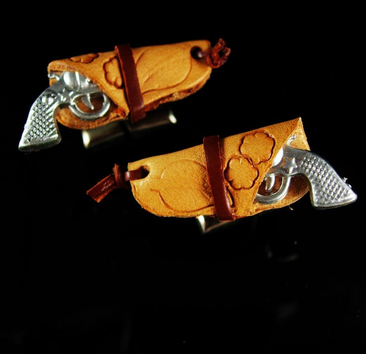 Hpw cool are these miniature toy cowboy pistols in their hand tooled leather holster? And remember, a personal well thought out gift shows you took the time to care about that special person in your life. Our items are classic, sometimes unusual and vintage and sometimes a little bizarre. Whether it is a memory from their past or something that reminds you of how special they are, purchasing from us is a unique idea that you can't get from a store every day. Just say the word and we will…