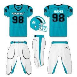Light Blue and White Football Kit