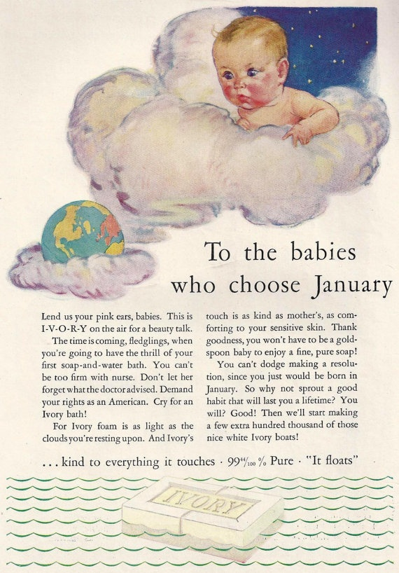 1930s Ivory Soap ad January Babies or  Nabisco by MyPaperedPast, $7.00