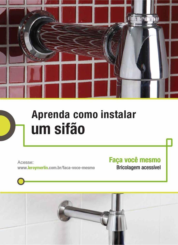 Precisando instalar um novo sifão em casa? Siga o passo a passo da nossa Ficha de Bricolagem. :-) http://leroy.co/28NRG3x