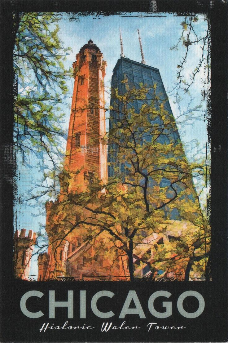 US-5233600 (2018°83) - Arrived: 2018.04.03   ---  The Chicago Water Tower is a contributing property and landmark in the Old Chicago Water Tower District. The tower was constructed to house a large water pump, intended to draw water from Lake Michigan. Built in 1869, it is the second-oldest water tower in the US.