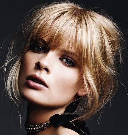 long choppy whispy fringe / blond bangs wish I could pull something like this off