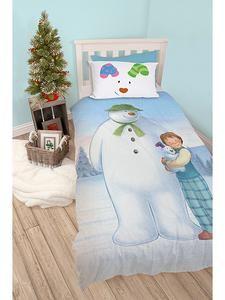 Kids Character Duvets: Snowman & Snowdog Single Duvet Cover Set – Novelty-Characters