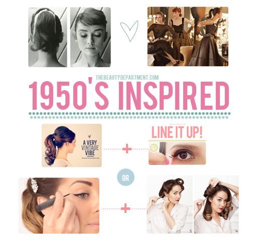 Halloween Help: Follow the links if you need a little beauty help to go with your Barbie, Mad Men, or 1950's inspired costume.