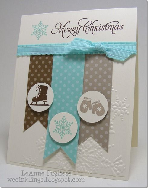 Leanne Pugliese's beautiful, but simple, card, doesn't have to be Christmas--substitute stamps, etc for any occasion