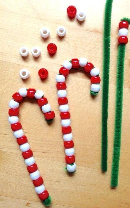 Parels rijgen thema kerst