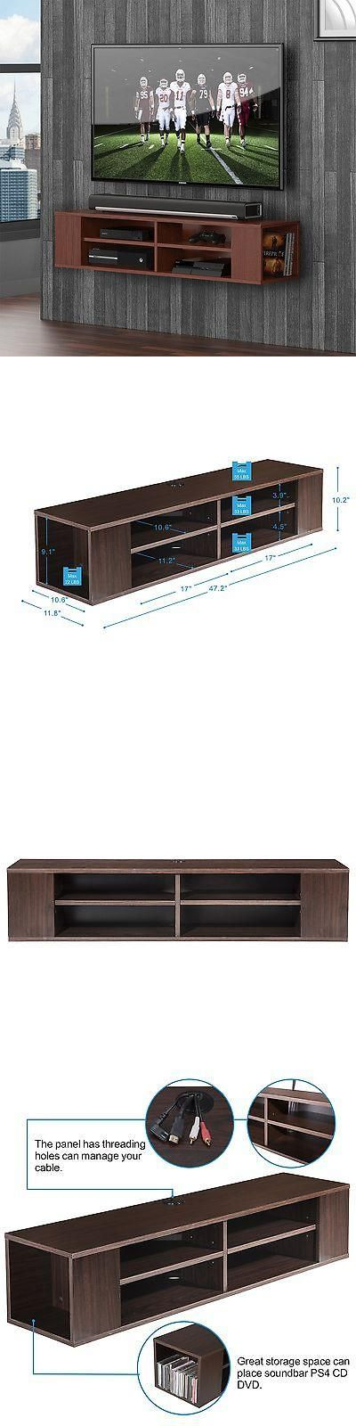 units tv stands floating center wall mount hanging media console storage tv