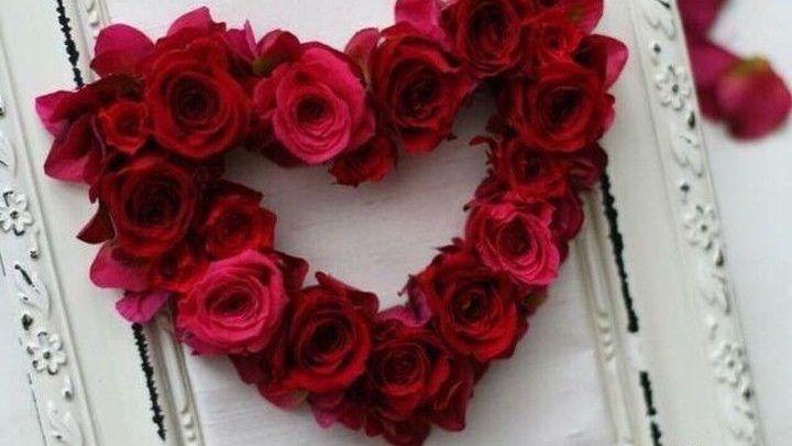 صور صباح الخير مع اجمل قلب بورد احمر Floral Landscape Wallpaper Floral Wreath