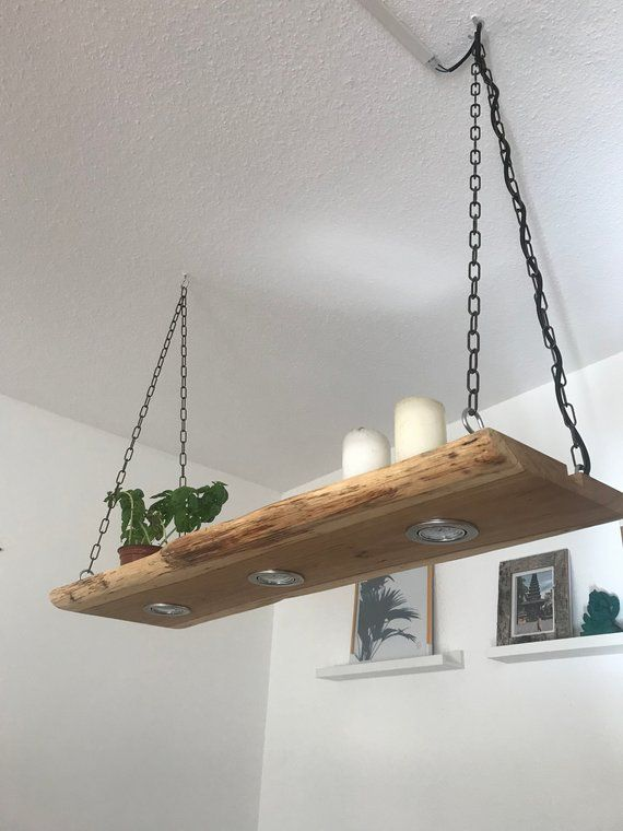 Hanging Lamp Wood Oak Rustic