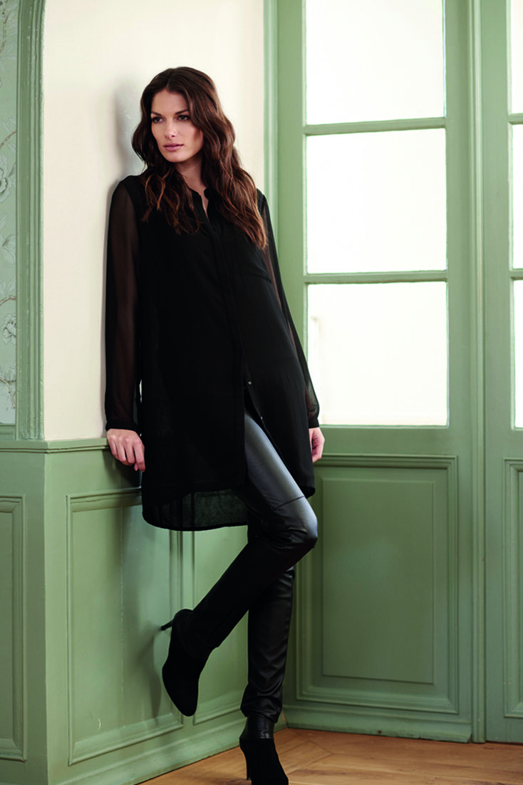 soyaconcept - cardigan - shirt - pants - leather