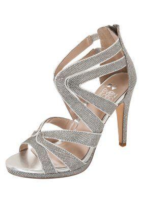 Korkeakorkoiset sandaalit - hopea
