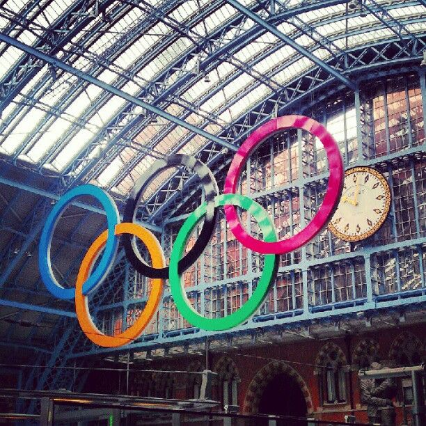 Olympic Rings at St Pancras Train Station in London
