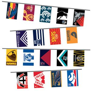 AFL All Team Bunting 10m Pk 1 | Party Supplies, Decorations, Papers, Tableware | LOMBARD - The Paper People