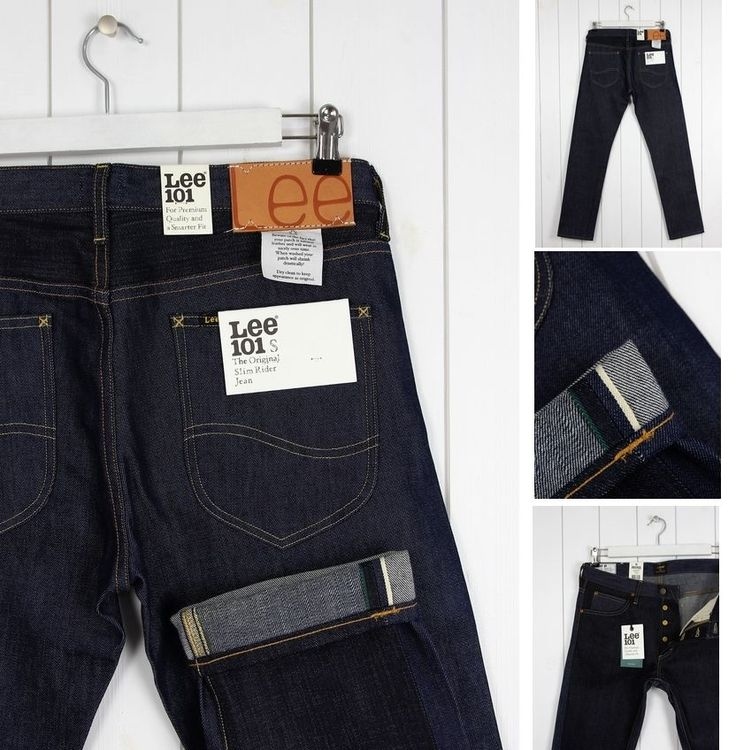 NEW  LEE 101S MIX DENIM 12/13OZ  DRY JEANS SELVAGE TAPERED SLIM  FIT _ ALL SIZES