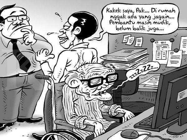 Kartun Kontan Benny Rachmadi - Juli 2016: Saat PRT Belum Balik Mudik