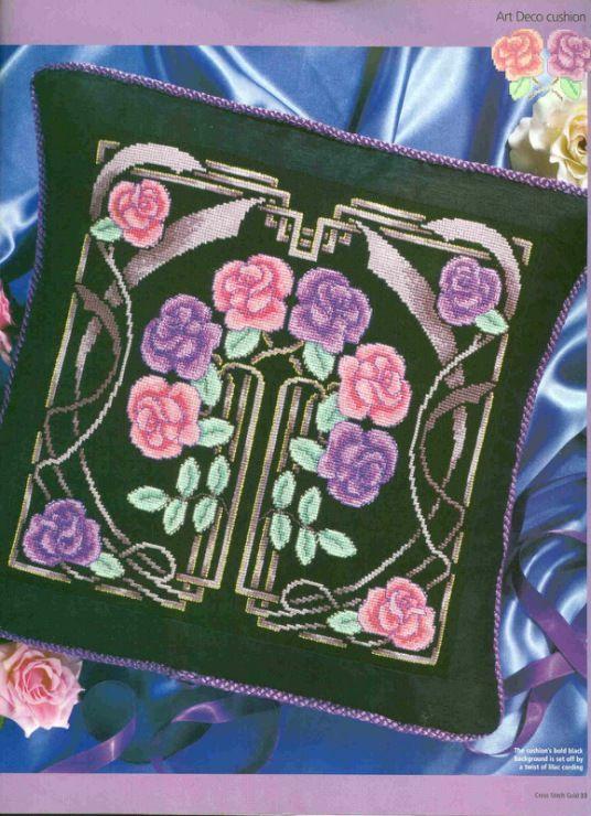 Jugendstil Kreuzstich cross stitch - free pattern Gallery.ru / Foto # 1 - ROSES 4 - KIM-2