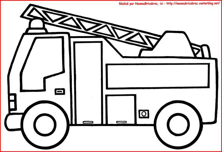 Camion de Pompier... à colorier
