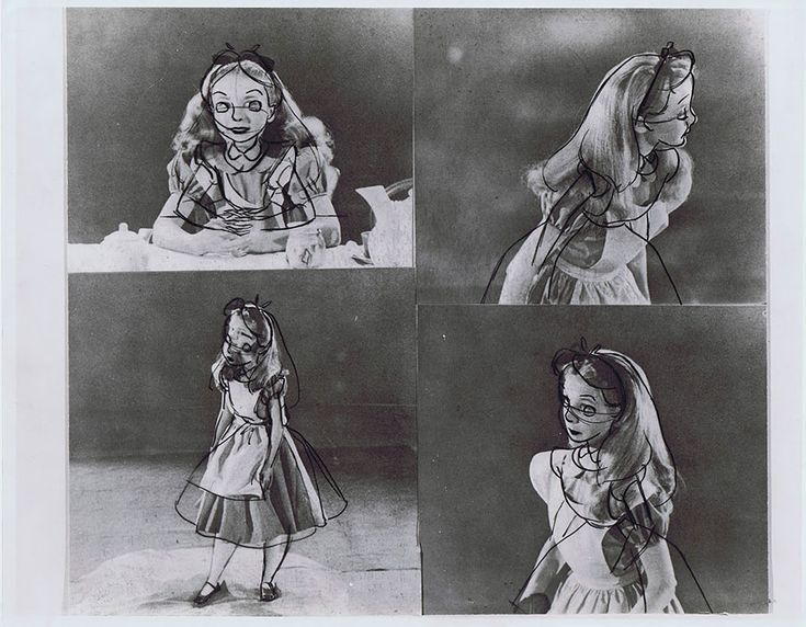 Old Photos Reveal How Disney's Animators Used A Real-Life Model To Draw Alice In Wonderland