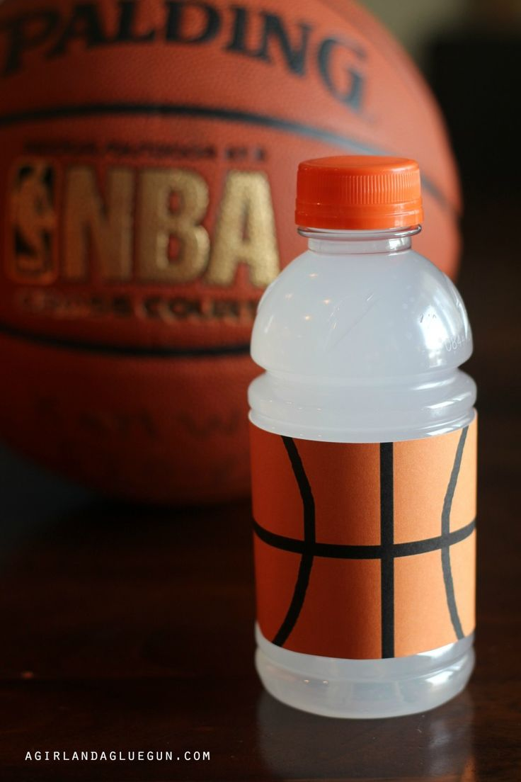 sports drink wraps--fun for when you have to take treats to the game! basketball, football and baseball